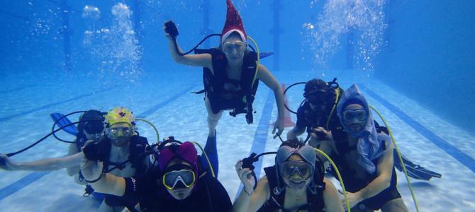 FÊTE DE FIN D'ANNÉE – sous l'eau et au bord du bassin